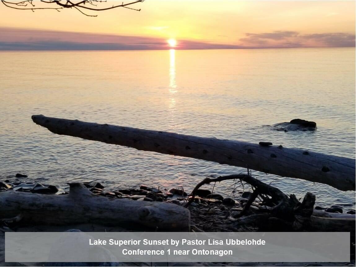 Lake Superior Sunset by Pastor Lisa Ubbelohde